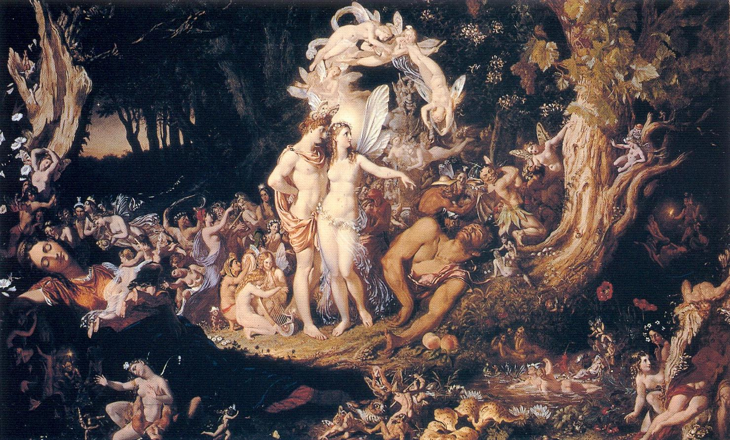 a literary analysis of the characters oberon and titania in the play by william shakespeare