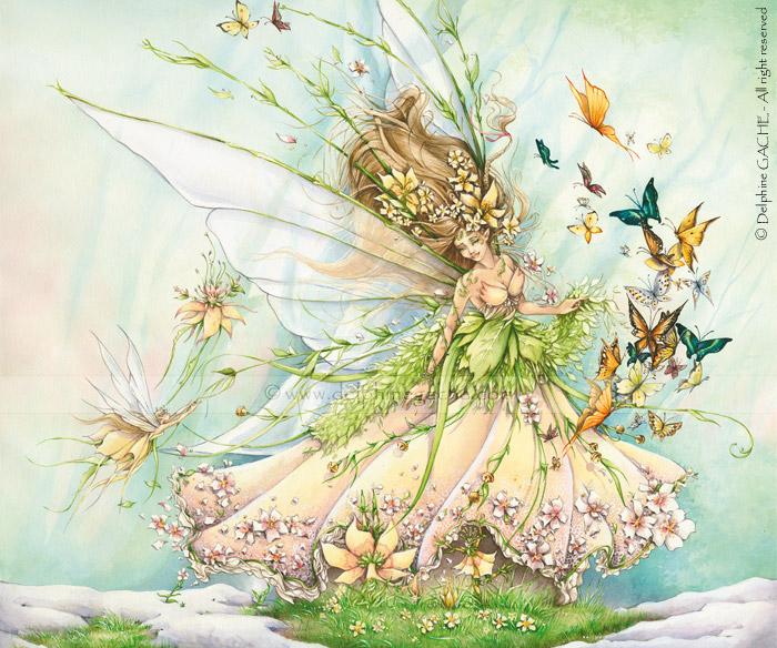 """Схема вышивки  """"Цветочная фея 3 """" ."""